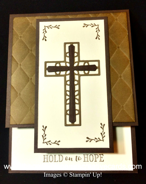 Card, Hold On To Hope, Cross of Hope Framelits, Tufted Embossing Folder