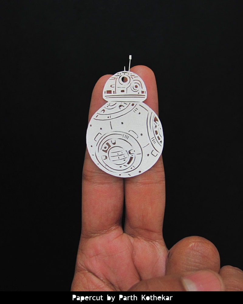13-Star-Wars-Droid-BB8-Parth-Kothekar-Beauty-and-Precision-in-Paper-Cut-Silhouettes-www-designstack-co