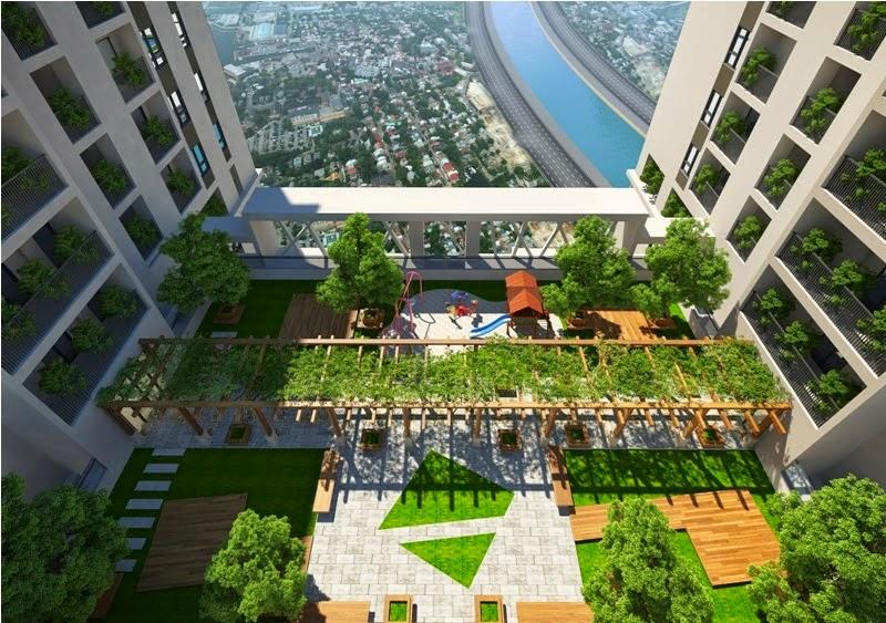 Không gian xanh của chung cư Green Pearl Minh Khai