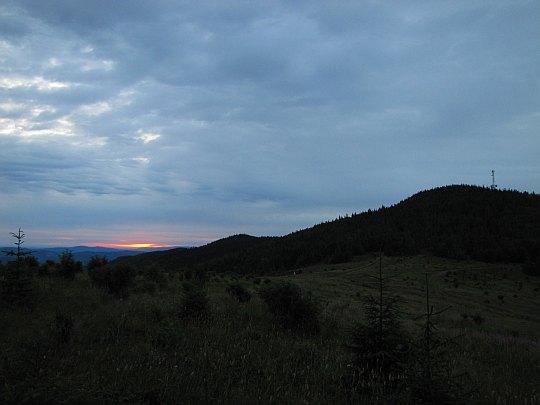 Wschód słońca z Hali Kucałowej.
