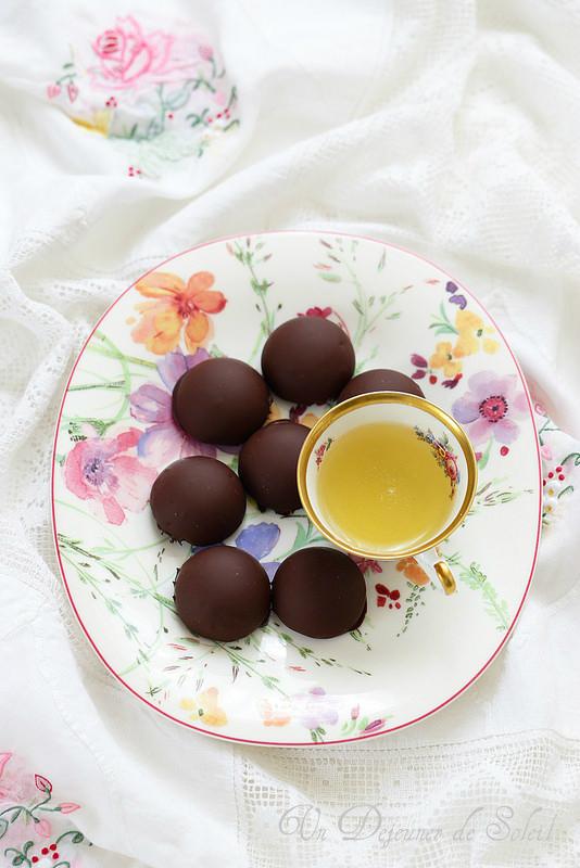 Chocolats maison à la ganache au thé