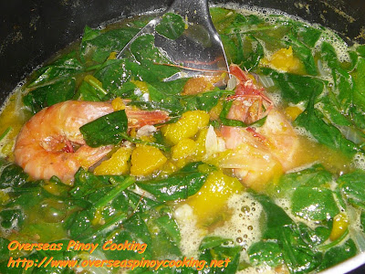 Suam na Kalabasa at Hipon, Kinalabasang Hipon - Cooking Procedure