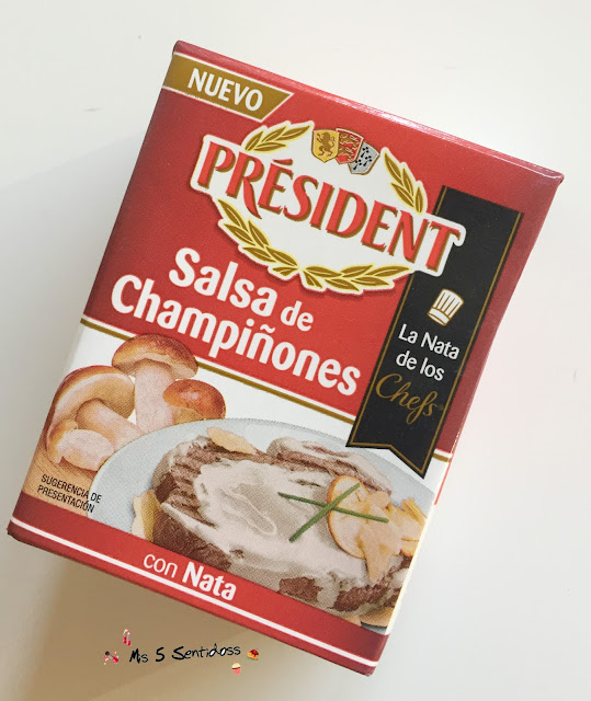 Président crema champiñones