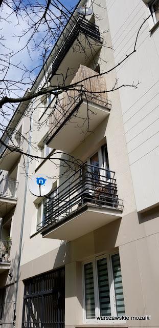 Warszawa Warsaw lata 30. Mokotów kamienica architektura modernizm balkon