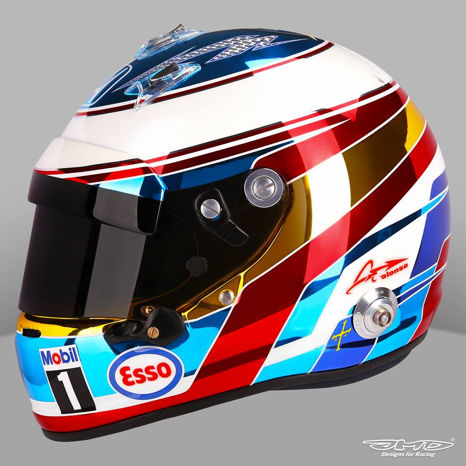 Helm 37 arai gp 6 f alonso monaco 2016 by jens munser designs for Helm design
