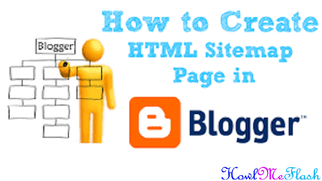 html sitemap for blogger