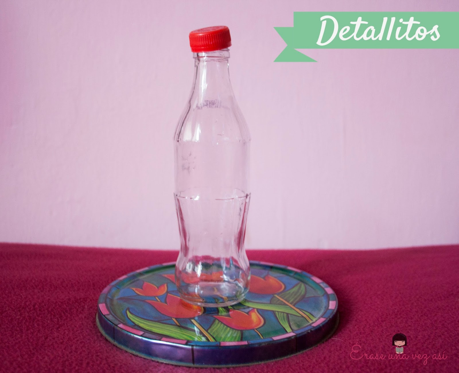 Florero de botella decorativa, reciclaje de vidrio, reciclaje de botella, manualidades con botellas, manualidades para decorar la casa, manualidades faciles, manualidades con amor