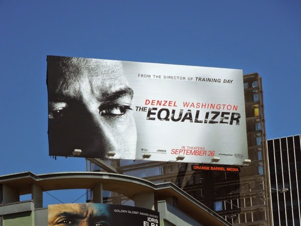 Denzel Washington The Equalizer movie billboard
