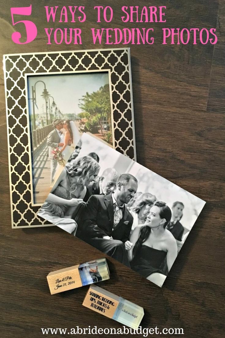 5 Ways To Share Your Wedding Photos (& win a custom USB