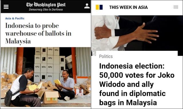 Media Asing Soroti Penggerebekan Surat Suara Tercoblos 01 di Malaysia