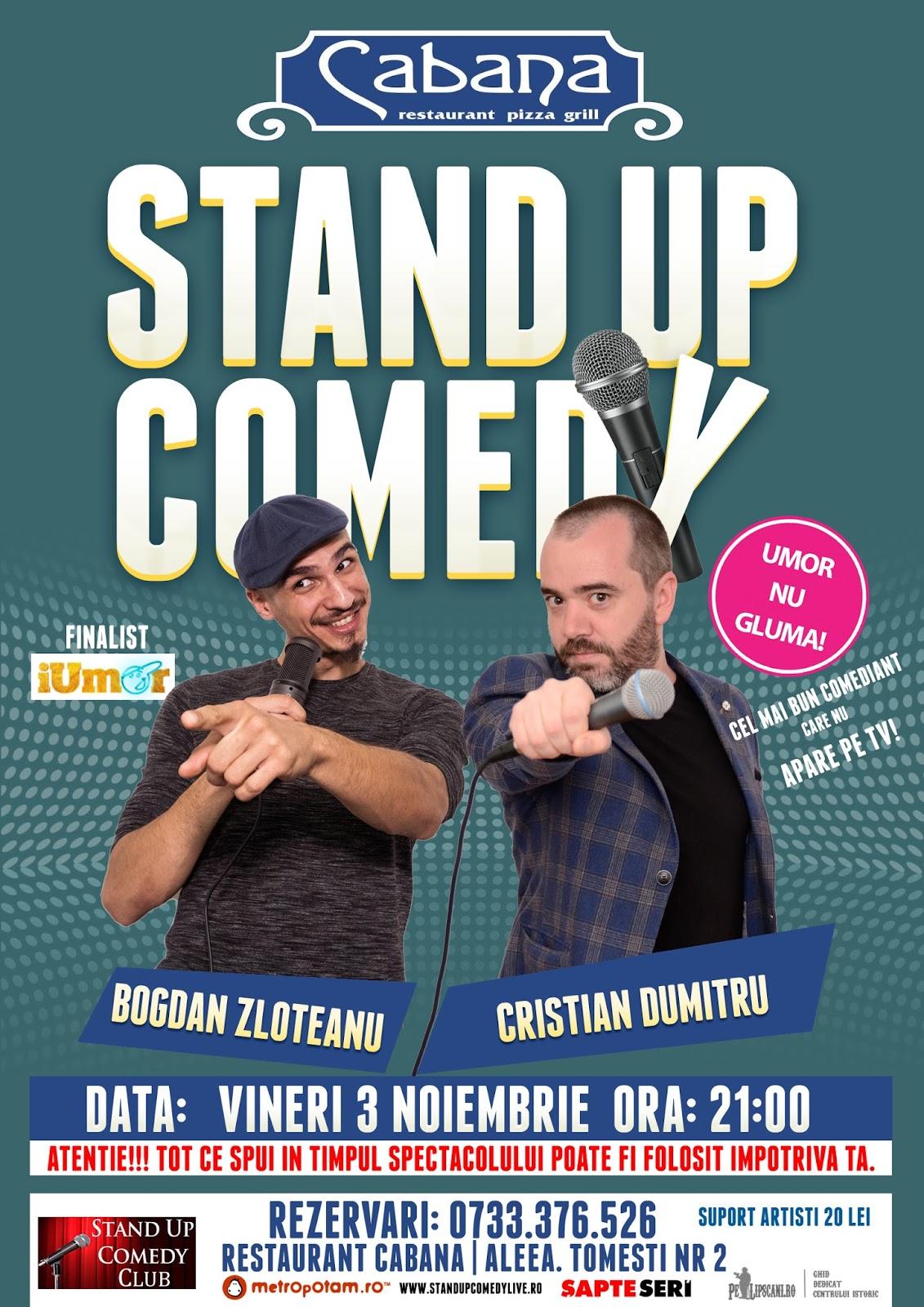 Stand-Up Comedy Bucuresti Vineri 3 Noiembrie 2017