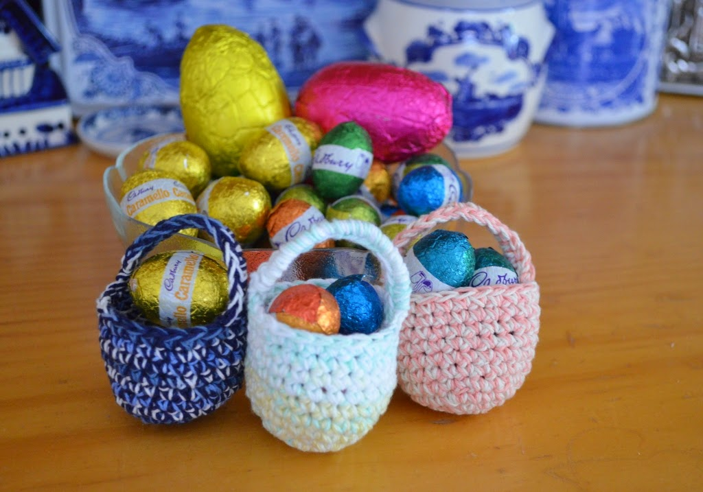A Collection of mini baskets and chocolate Easter eggs from 2014.