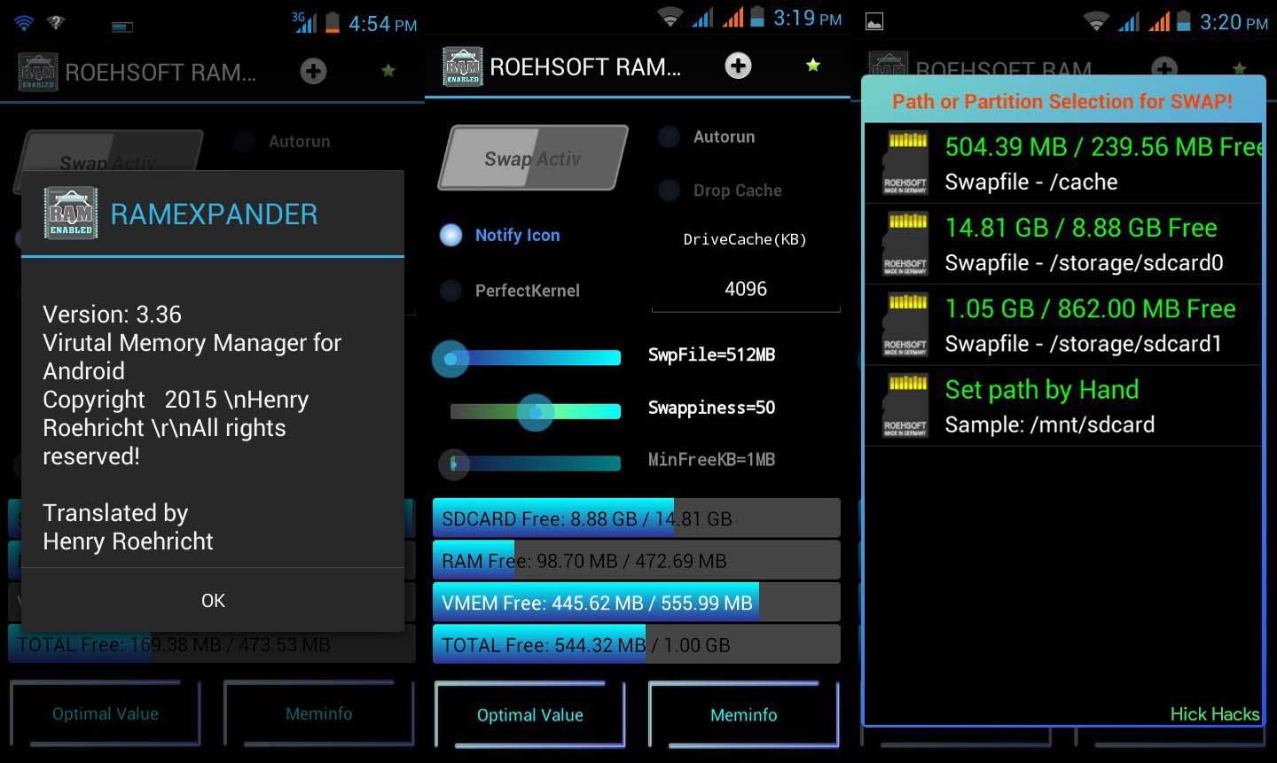 how to use roehsoft ram expander