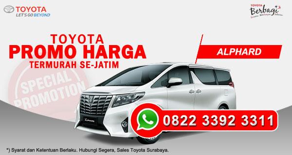 Promo Harga Toyota Alphard Surabaya