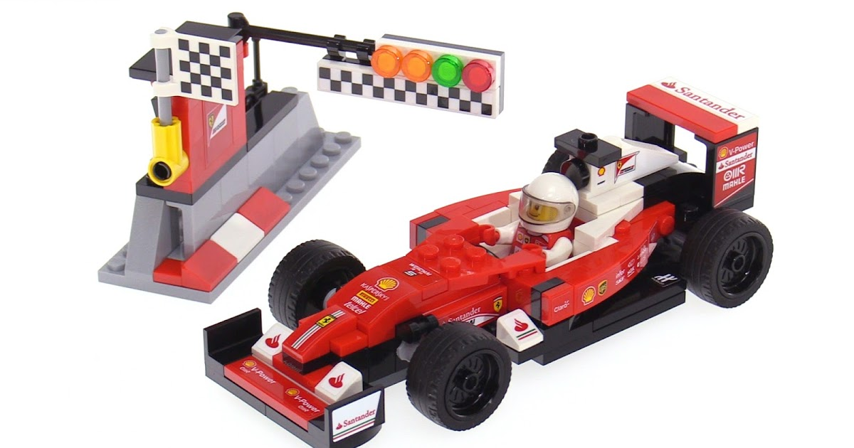 lego speed champions 2016 season ferrari formula one car review. Black Bedroom Furniture Sets. Home Design Ideas