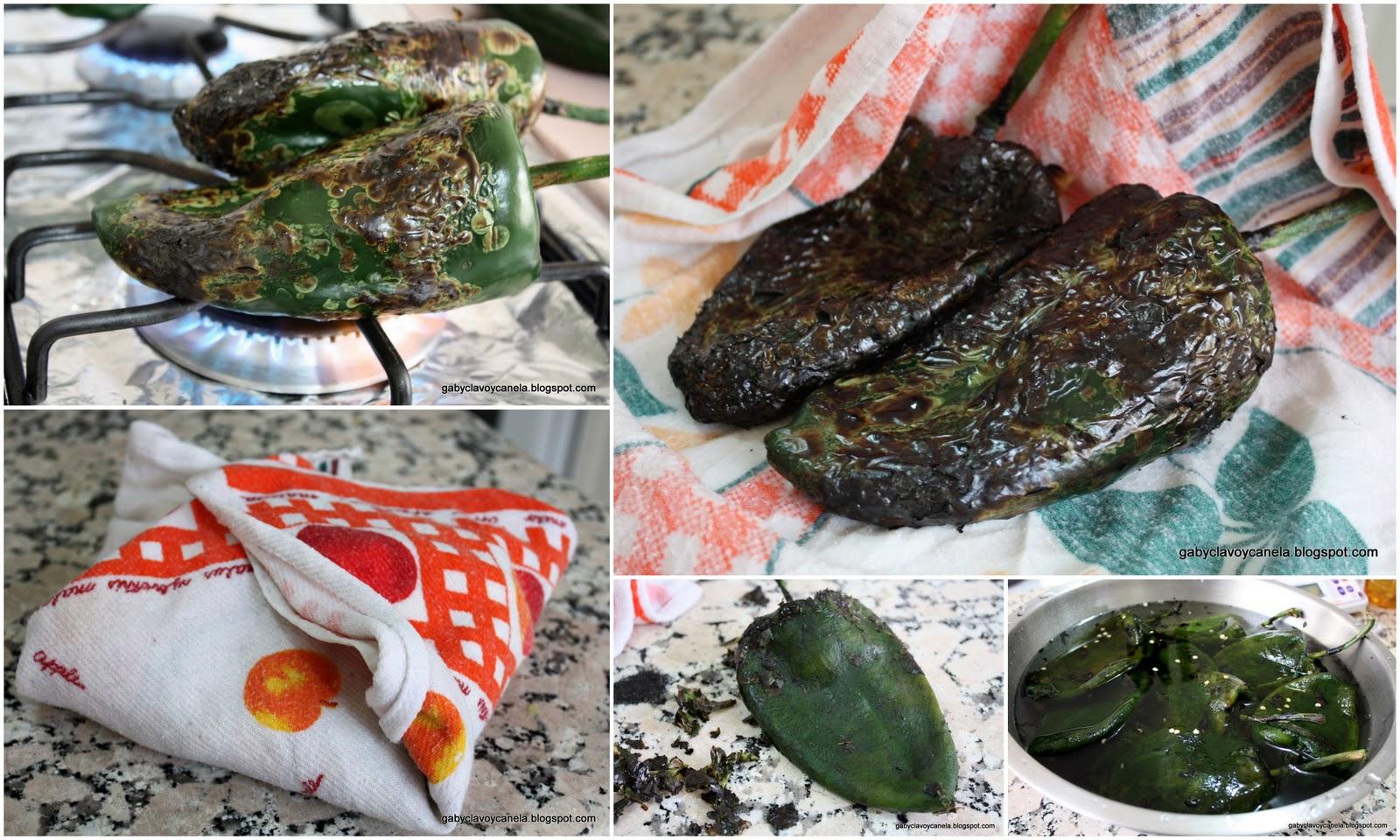 Chiles en Nogada recipe step by step tutorial
