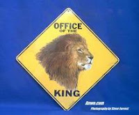 Office of King Lion Crossing Sign