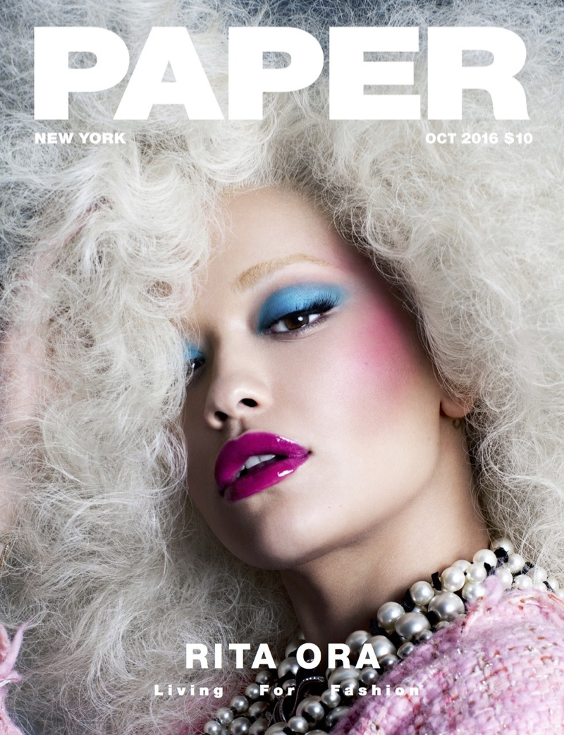 Rita Ora allures for Paper Magazine's October 2016 edition