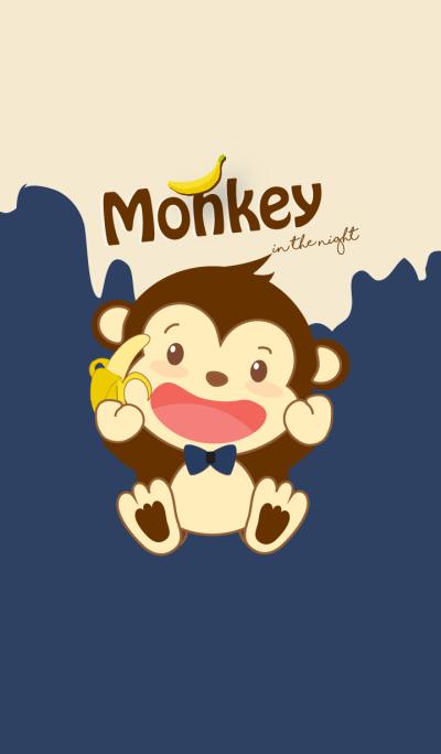 Monkey in the night. (Beige ver.)