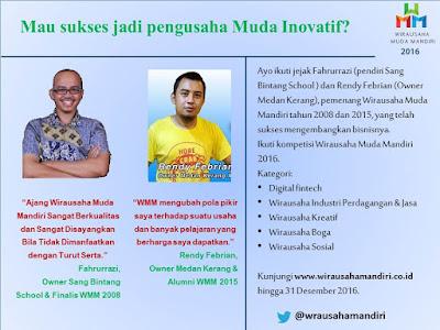"""Ajang Wirausaha Muda Mandiri 2016 untuk yang """"Muda, Inovatif dan Peduli"""""""