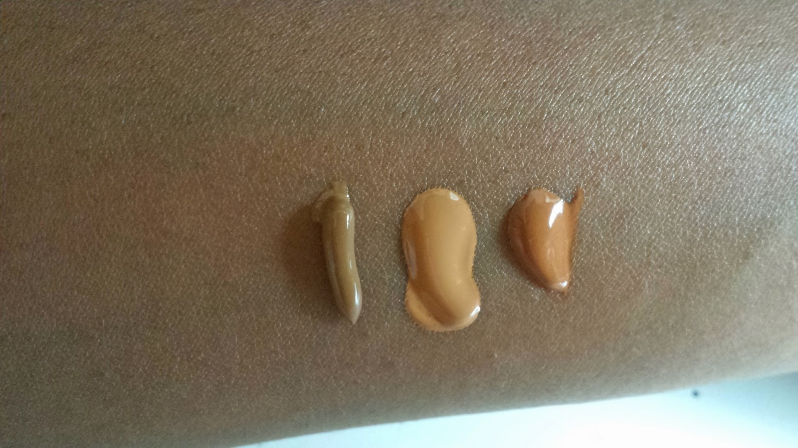 Sleek, Garnier and Maybelline BB Cream Comparison swatches - www.modenmakeup.com