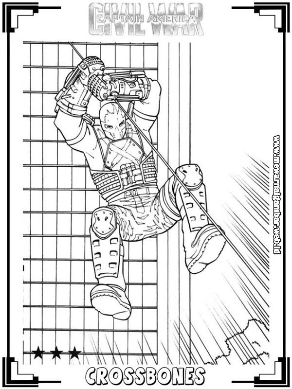 Mewarnai Gambar Captain America