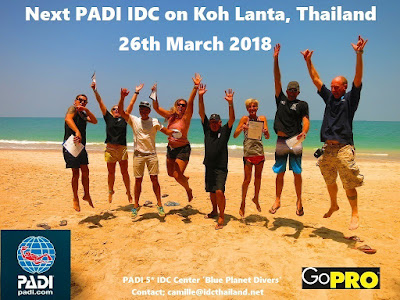 Next PADI IDC on Koh Lanta, Thailand starts 26th March 2018