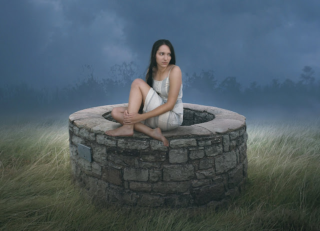Photoshopcc tutorial - Photo Manipulation Tutorial - girl on the well