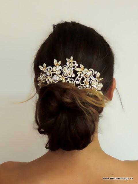 faf6df156 Svadobné závoje, šperky a doplnky : Svadobné ozdoby do vlasov
