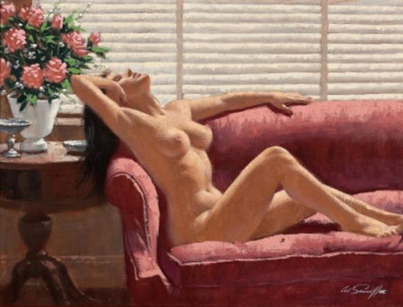 D.W.C Nude Blonde - Painter Arthur Sarnoff