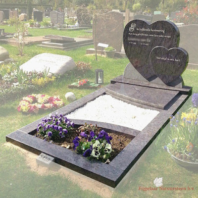 grafsteen dubbel hart, grafsteen dubbele hart, grafsteen twee harten