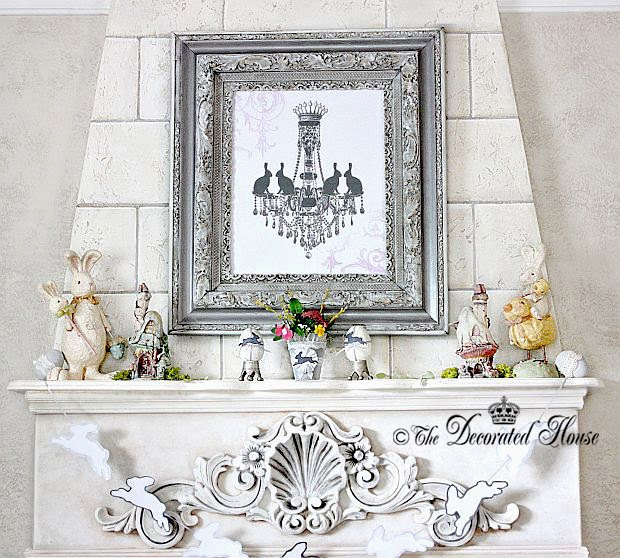 The Decorated House Easter Mantel 2014