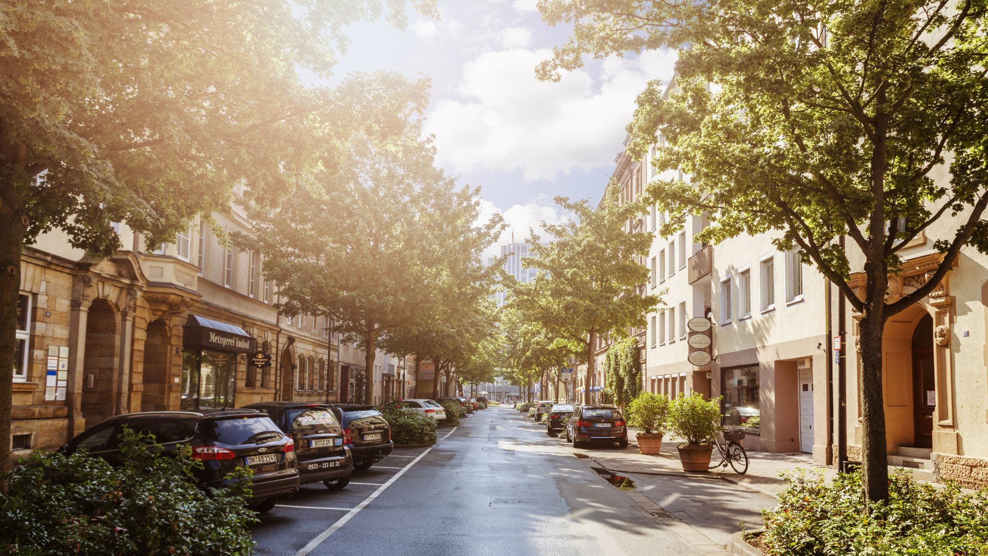 Wallpaper: Sunny on the streets of Bayreuth