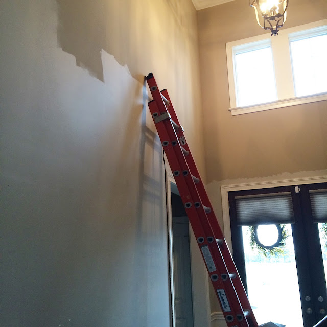 Annapolis Gray, Benjamin Moore, painting a two story foyer