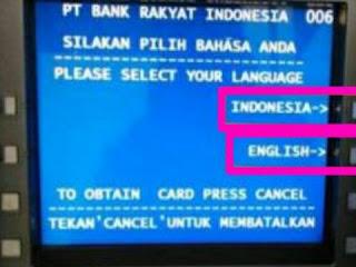 Cara Mengambil Uang Di ATM BANK BRI
