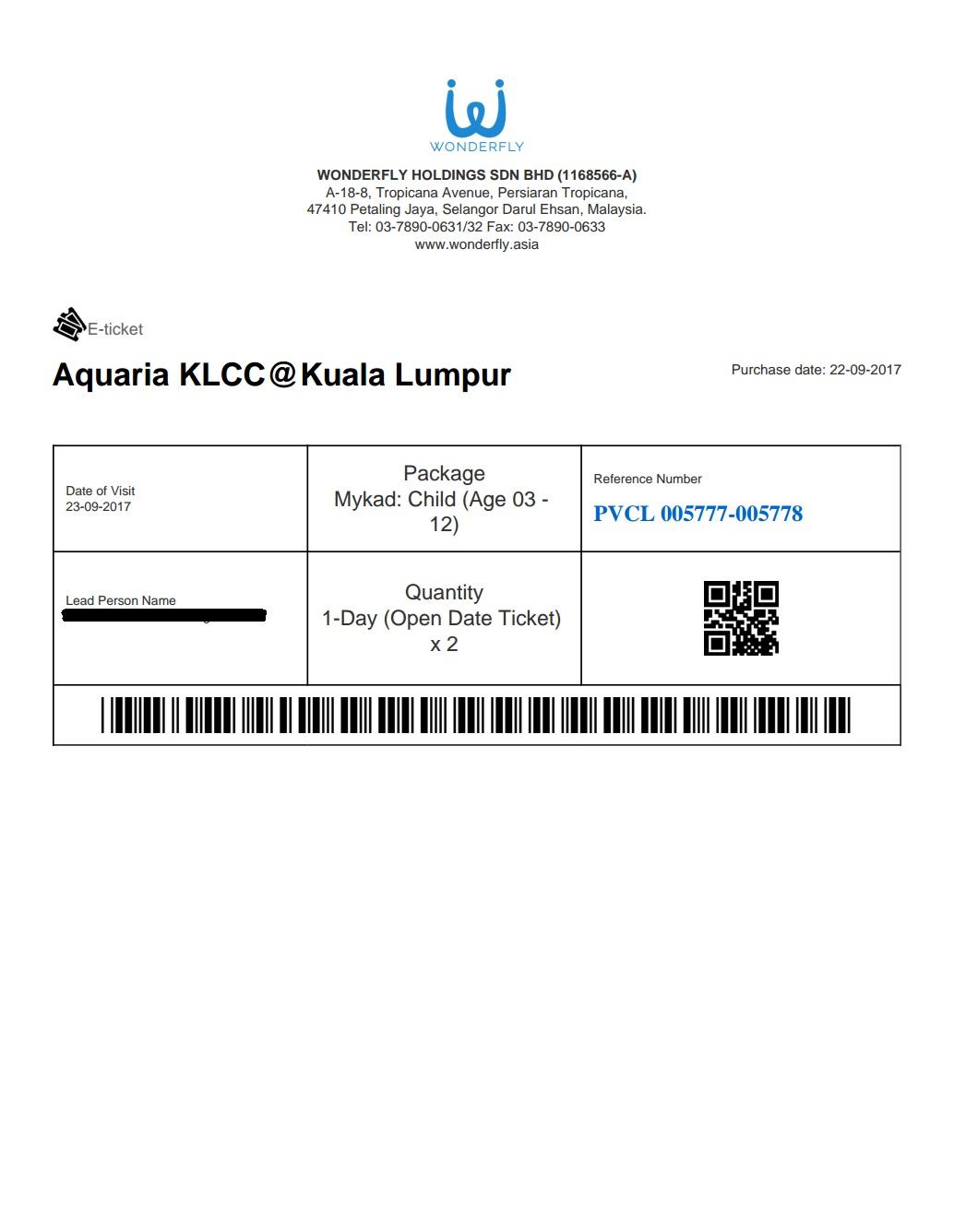 Aquaria klcc ticket price 2019