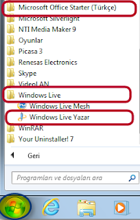 Windows Live Yazar
