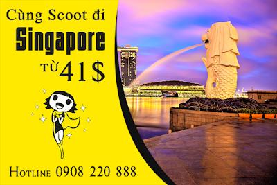 Vé máy bay Scoot đi Singapore tháng 10