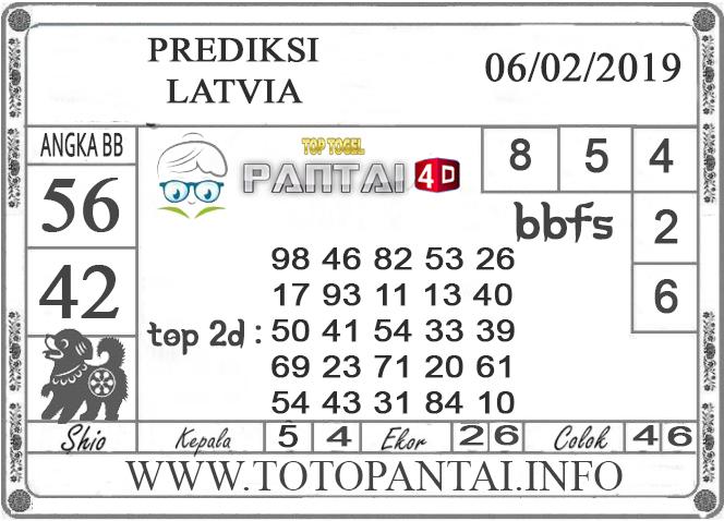 """Prediksi Togel """"LATVIA"""" PANTAI4D 06 FEBRUARI 2019"""