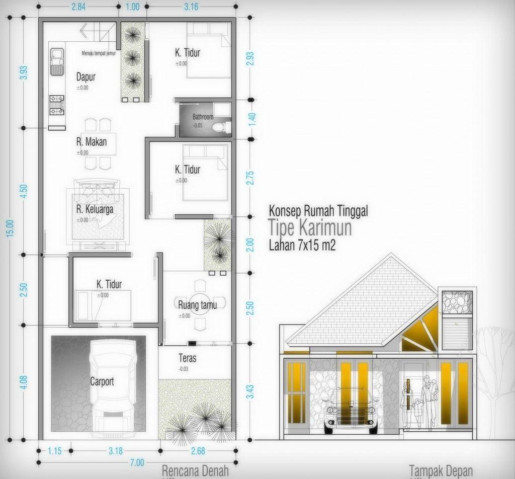 Contoh Denah Rumah Tipe 60 Menarik