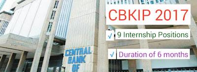 CBKIP 2017 internship positions