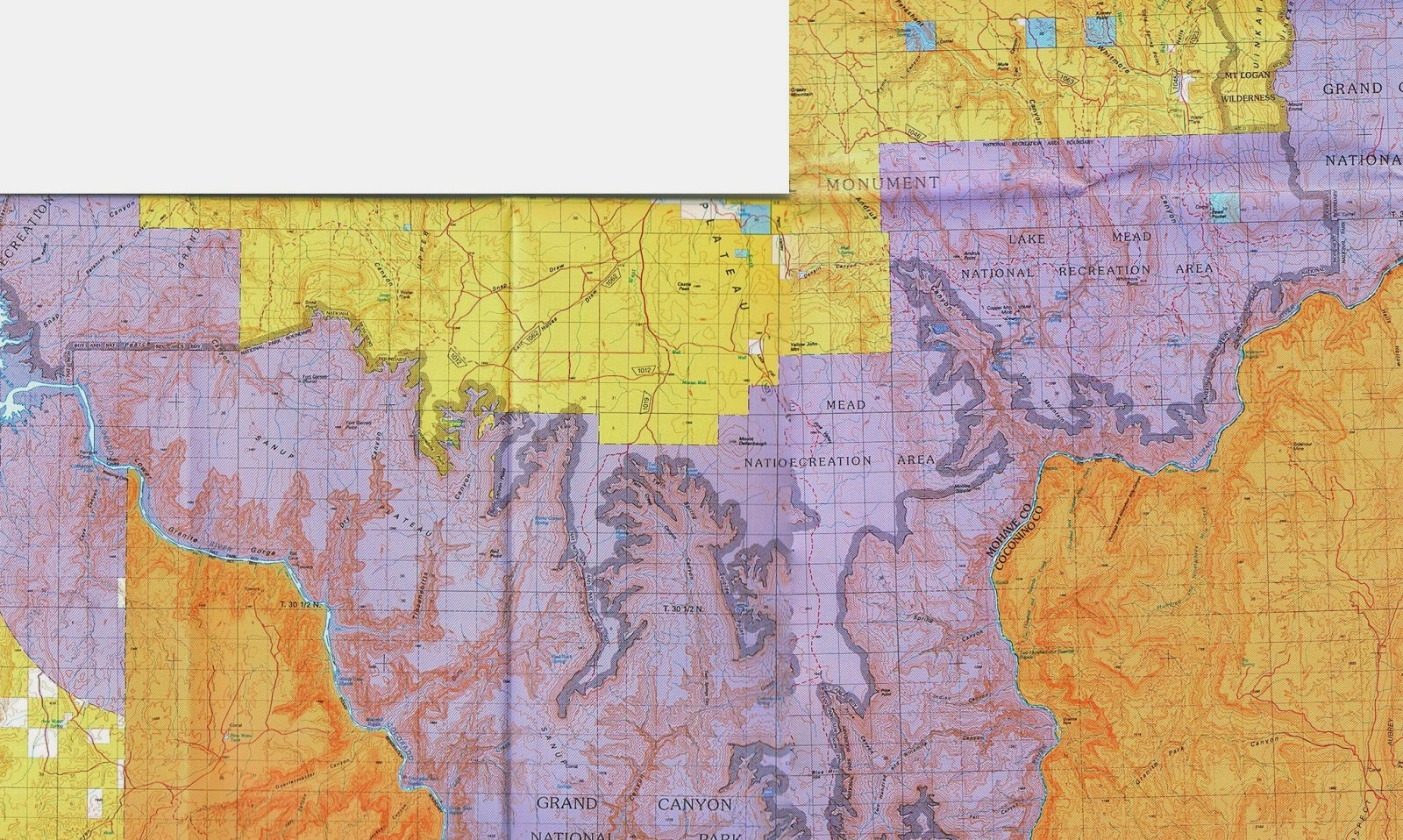 Map Of Arizona Strip.Celebrating The Grand Canyon Study 3 The Adjacent Lands Study