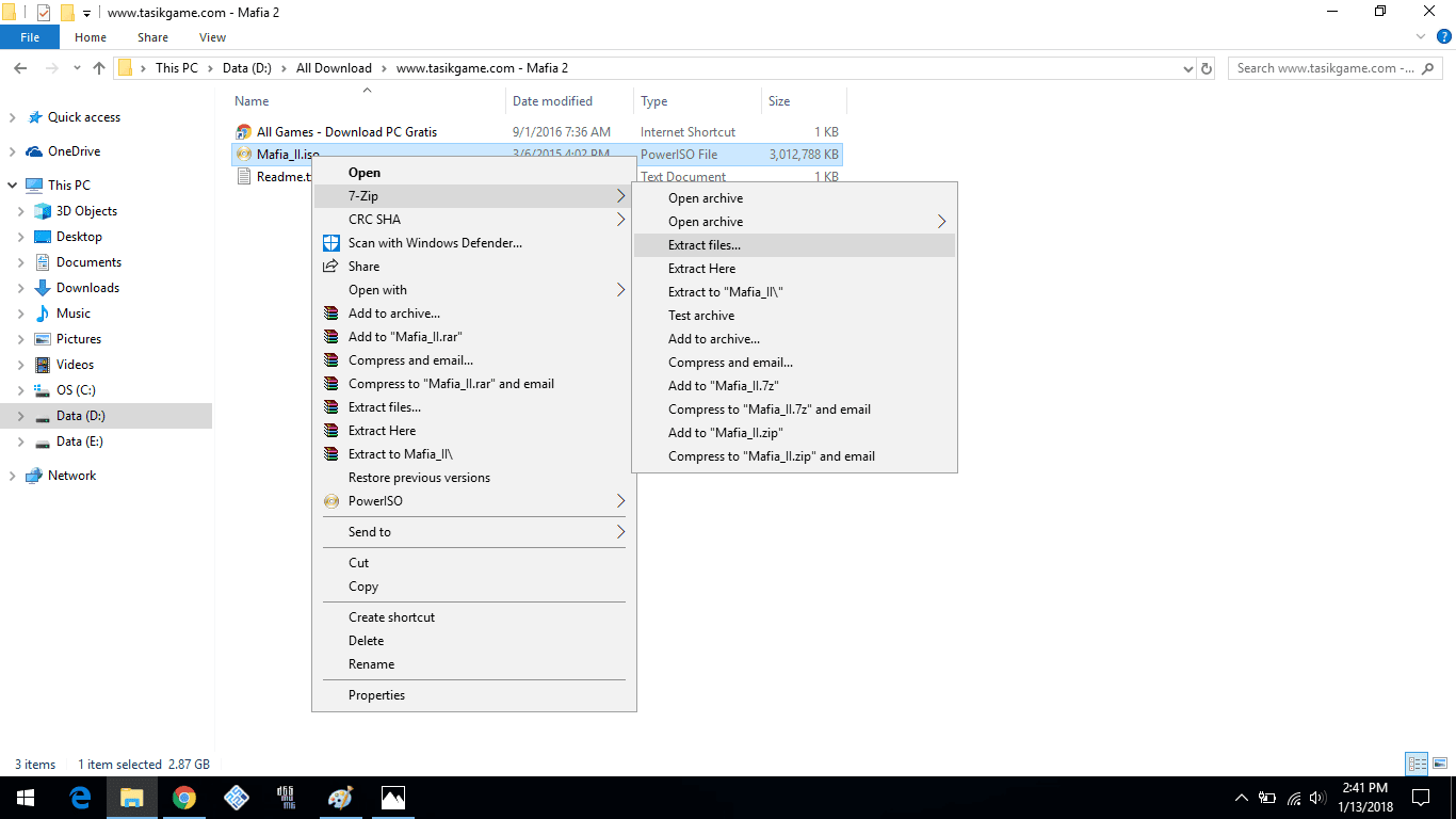 extract file iso dengan 7-zip