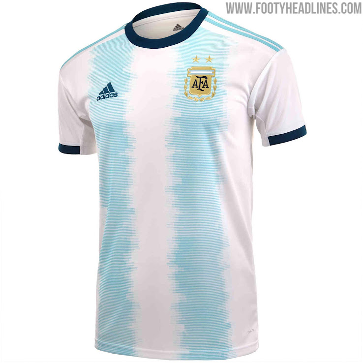 95e75f892 Blue Shorts  Argentina 2019 Copa America Kit Released - Footy ...