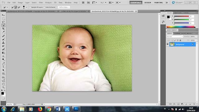 cara seleksi foto dengan quick selection tool