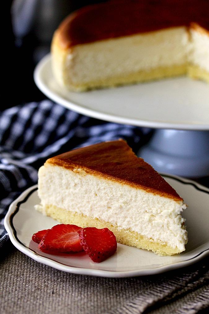 traditional new york style cheesecake karen s kitchen stories