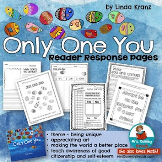 teaching resources, children's literature, only one you, teach life lessons, reader response pages