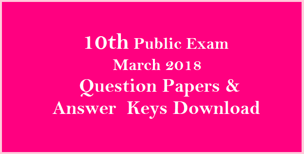 SSLC Previous Question Paper PDF