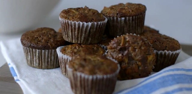 HEALTHY AND DELICIOUS BANANA APPLE MUFFINS