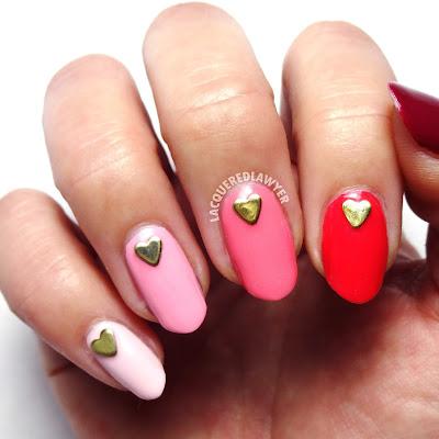 Paneled Pink Nails
